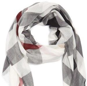 Burberry gauze sheer scarf